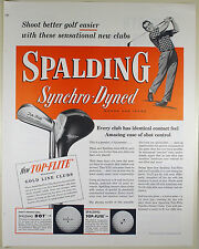 Vintage 1953 SPALDING GOLD LINE GOLF CLUBS Full-Page Large Magazine Print Ad