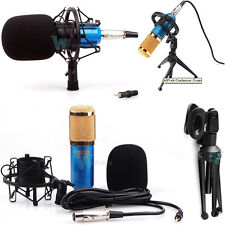 Condenser Sound Studio Recording Microphone Mic Dynamic w Tripod Stand & Mount