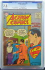 ACTION COMICS #213 CGC 7.5 Superman 1956 2nd Highest Graded copy