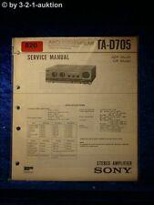 Sony Service Manual TA D705 Amplifier  (#0820)