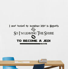 Harry Potter Lord Of The Rings Star Wars Quote Wall Decal Vinyl Sticker 240crt