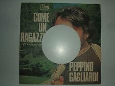 """Peppino Gagliardi – Come Un Ragazzino - Copertina Forata Per Disco Vinile 7"""""""