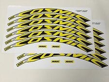 New for 2016 Mavic Cosmic Elite Wheel Decals/Stickers Set of 12 decals YELLOW