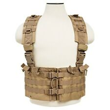 NcSTAR Tan Airsoft Tactical Vest 5.56 Chest Rig w/ 5.56 Mag Pouches CVARCR2922T
