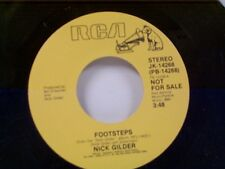 "NICK GILDER ""FOOTSTEPS / SAME"" 45 PROMO  MINT"