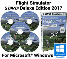 Simulatore di volo 2017 DELUXE EDITION x Flight Sim Windows 10 8 7 XP PC 5 DVD