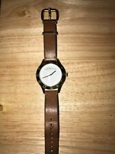 Women's Marc Jacobs Blade Brown Leather Strap Watch