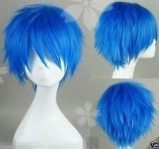 HOT !!! Short Cosplay V home KAITO Brother blue turned Alice Wig WY