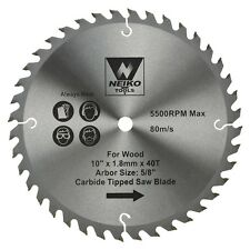 "Table Saw Blades for Wood Carbide Tipped  10"" inch x 40 Teeth"