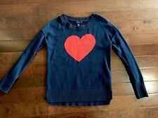 Gap Factory Heart Sweater Size XS Cotton Blend Valentines Preppy