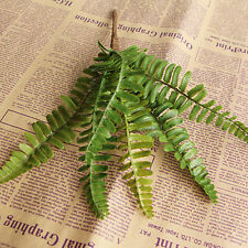 Hot New Fishtail Pine Fern Fake Plant Artificial Floral Leaves Office Decor