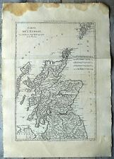 Carte ancienne BONNE antic map 1787 ECOSSE Scotland Galloway Aberdeen Morven 76