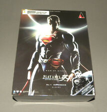 Play Arts Man of Steel Black Superman Action Figure NYCC Exclusive Version NEW