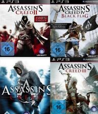 Playstation 3 Assassins Creed BUNDLE TEIL 1 + 2 + 3 + 4 Deutsch Neuwertig