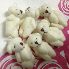 3.5cm Plush Mini Joint Bare Teddy Bear Miniature bear Bouquet/Phone/bag 12pc/lot