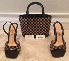 LOUIS VUITTON France SET=TOTE BAG & HEELS Impala Leather Pony Hair LV 40.5 10M
