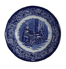 VINTAGE STAFFORDSHIRE LIBERTY BLUE BETSY ROSS SAUCE BOWL DISH! 10 AVAILABLE!