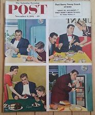 SATURDAY EVENING POST NOVEMBER 6 1954 SASSY YOUNG COACH SHOT BY ACCIDENT