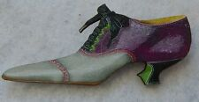 Vintage Style Shoe Brooch or Scarf Pin Fashion Wood Accessories New Multi-Color