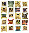 """G09- Jute, Cotton Canvas & Rug Cushion Covers - Quotes, Prints & Woven 16"""" x 16"""""""