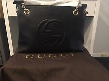 GUCCI SOHO Black Leather Bag W/ Gold Hardware NWT!