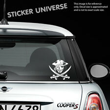 """GUY FAWKES PIRATE MASK 4.75""""X5.25"""" Vinyl Die Cut Decal Sticker Anonymous Window"""