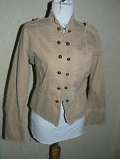 Ladies Beige Military Style  Jacket  Size 10 by Miss Posh