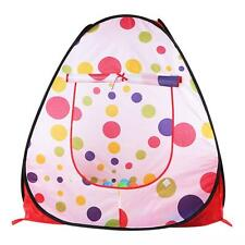 Children Kid Polka Dot Teepee Easy Twist Play Tent Play House Indoor Outdoor Toy