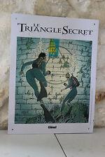 Plaque en tôle - Le Triangle Secret - Offert par Glénat - Mullard 2002