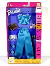 NIB BARBIE DOLL FASHION 2002 FASHION AVENUE BLUE PAJAMAS