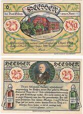 Germany 25 Pfennig 1921 Notgeld Heesen Bad Eilsen UNC Banknote