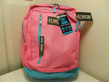 JANSPORT TRANS Backpack w/ Laptop Sleeve Pink and Blue 689914103962 NWT