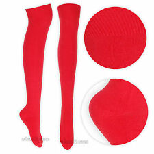 Womens Over the Knee Socks Stretch Thigh High Sizes UK 4-6.5 Fancy Dress Costume