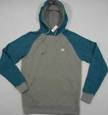BILLABONG Men's Gray Cotton/Polyester LS Hoodie Sweatshirt (S) NEW NWT $50
