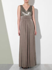 John Lewis taupe Judy Sequin Jersey Dress Wedding Bridesmaid Size 18 RRP £180