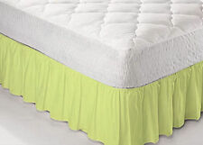 "Luxury Plain Dyed Platform Extra Deep 26"" Deep Base Valance Box Pleated Sheet"