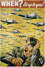 British WWii WW2 Military 11x17 Poster When Its Up You
