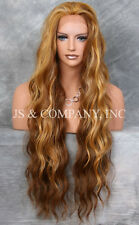 Extra Long Unique Blonde mix HEAT SAFE Lace Front Wig loose wavy WEAJ 2014