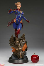 Captain Marvel Premium Format Figure by Sideshow Collectibles Statue In Stock