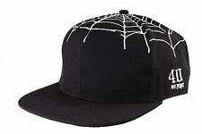 40 Oz NYC Forty Ounce New York Black Top Spider Web Snapback Baseball Hat NWT