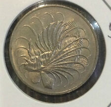 Offer Singapore 50 cents 1974  Fish coin  lustre/high grade! ??