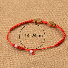 1 PC Resin Fish Red String Bracelet Rope Cuff Bangle Chinese Style Lucky Jewelry