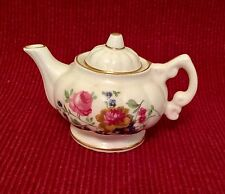 Fenton China Co. Miniature Tea Pot - Mint Condition - Lovely Flower Design