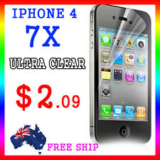 7x LCD HQ Ultra Clear Screen Film Display Protector Apple Guard iphone4G 4S 4
