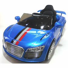 New Audi Style 12v Kids Electric Ride on Car with Remote - Blue