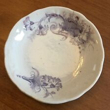 Antique Staffordshire Porcelain Purple Transferware SMITH & FORD Butter Pat