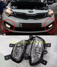 2012-2014 KIA Rio Sedan Pride Fog Light LAMP + CONNECTOR Wires GENUINE PART OEM