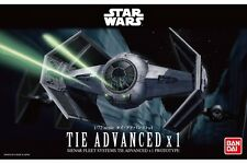 Star Wars Plastic Model Kit 1/72 TIE ADVANCED X 1 Bandai Japan NEW **