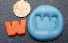 "Reusable Letter ""W"" Silicone Food Safe Mould, Mold, Sugarcraft, Jewellery, Cake"