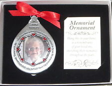 Memorial Photo Ornament God Saw Her Getting Tired Teardrop In Loving Memory New
